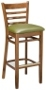 Upholstered Ladder Back Wood Barstool