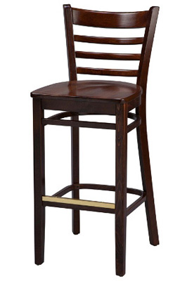 Ladderback Bar Stool Wood Seat