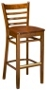 Ladder Back Wood Barstool