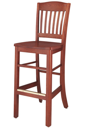 Oak Lake Lodge Style Bar Stool Wood Seat