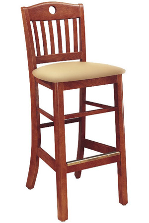 Oak Lake Lodge Style Bar Stool Upholstered Seat