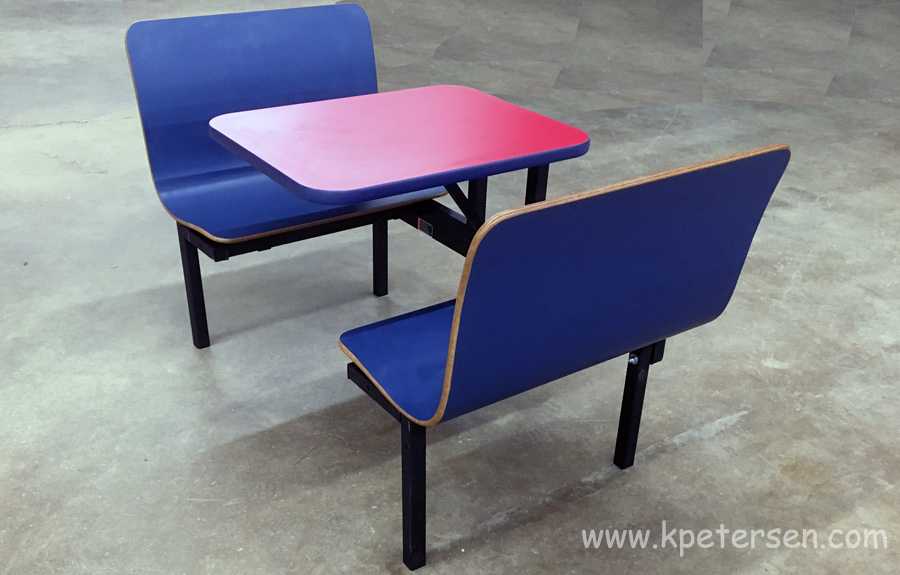 Laminated Plastic Two Seat Restaurant Booth Overstock