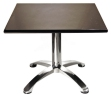 Polished aluminum and steel table base for large table tops