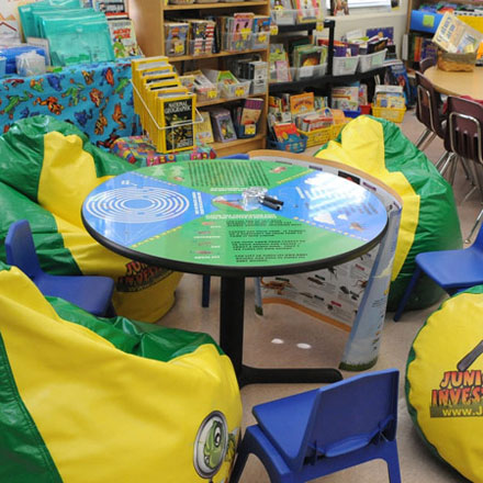 Photographic Plastic Laminate Educational Table Installation