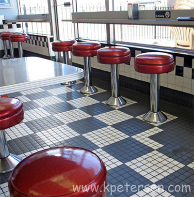 Upholstered Seat Lunch Counter Stools Installation