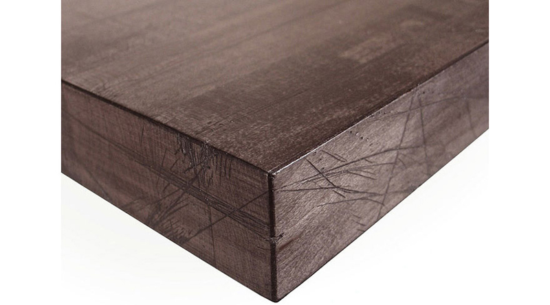 Solid Maple Butcherblock Restaurant Table Byre Finish Detail