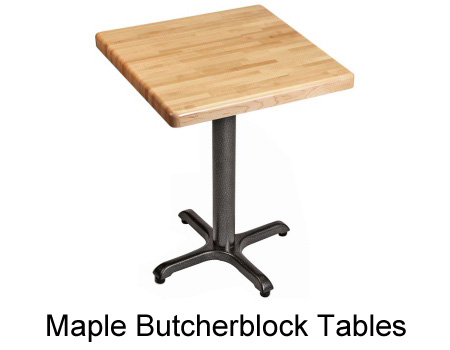 Maple Butcherblock Restaurant Tables