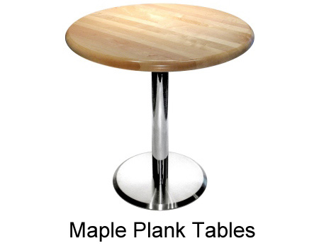 Maple Plank Restaurant Table