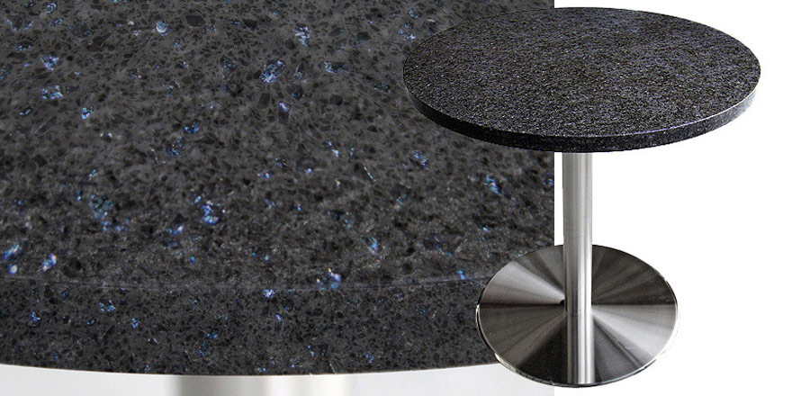 Mesa Quartz Restaurant Table - Blue Galaxy