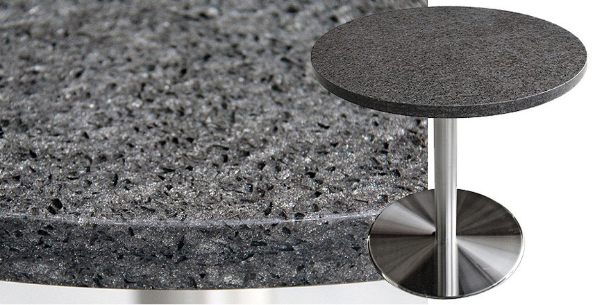 Mesa Quartz Restaurant Table - Storm Gray