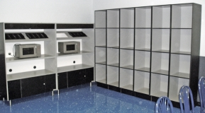Lunch Box Storage Microwave Oven Cabinets Installation
