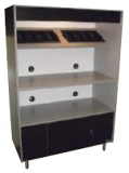 Wide 72 Inch Microwave Cabinet