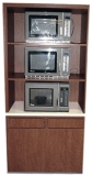 Microwave Cabinet Custom With Waste Receptacles