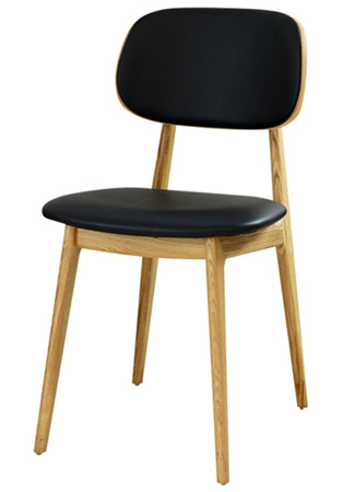 Modern Wood Restaurant Chair Front View