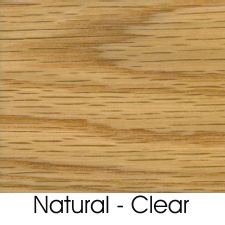Natural Clear Finish On Oak Wood Species
