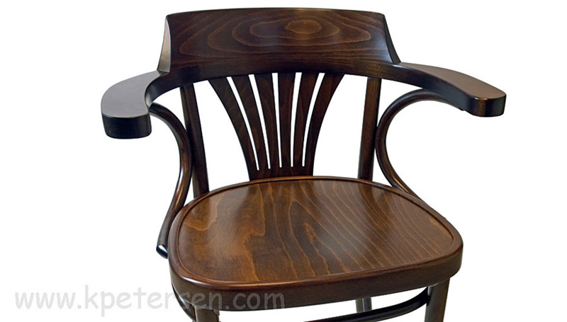 New York Cafe Chair Front View Seat and Arm Detail