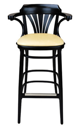 New York Cafe Bar Stool Upholstered Front View