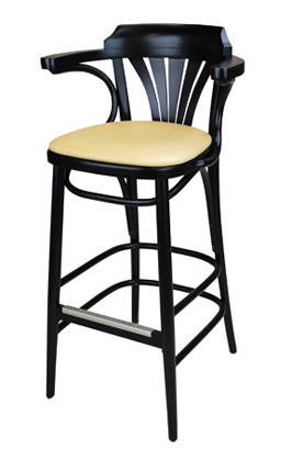 New York Cafe Bar Stool Upholstered Side View