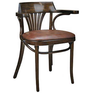 Upholstered New York Cafe Bentwood Armchair Side View