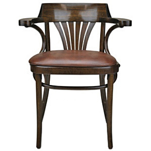 Upholstered New York Cafe Bentwood Armchair Front View
