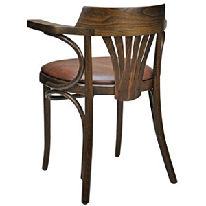 Upholstered New York Cafe Bentwood Armchair Rear View