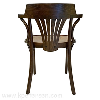 New York Cafe Chair Rear View