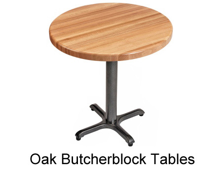 Oak Butcherblock Restaurant Table