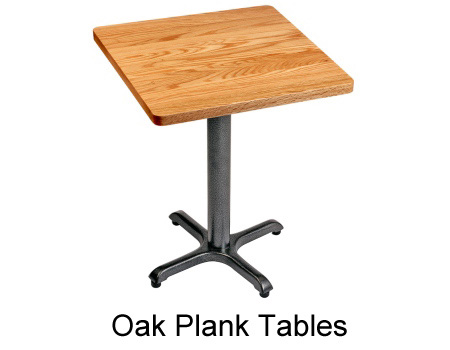 Oak Plank Restaurant Table