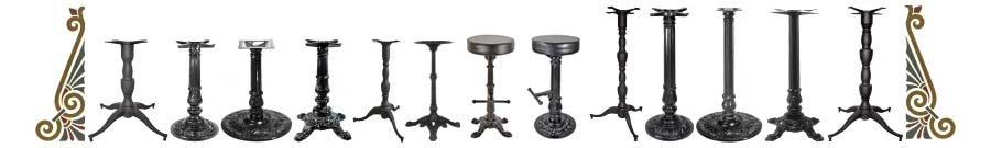 Antique Reproduction Victorian Cast Iron Table Bases and Bar Stools