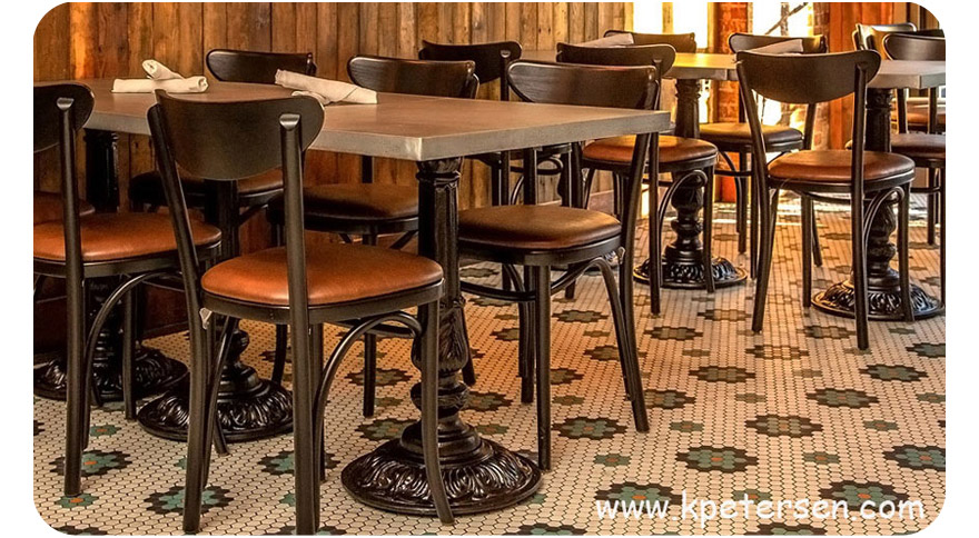 Victorian Style Small Round Cast Iron Antique Reproduction Table Base For Small Table Tops Restaurant Installation