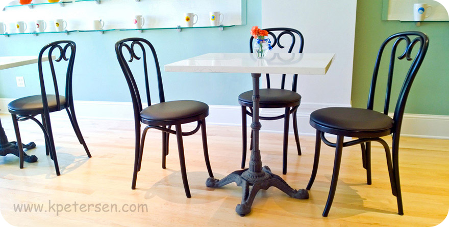 Ornate Cast Iron Crossfoot Dining Table Base Installation