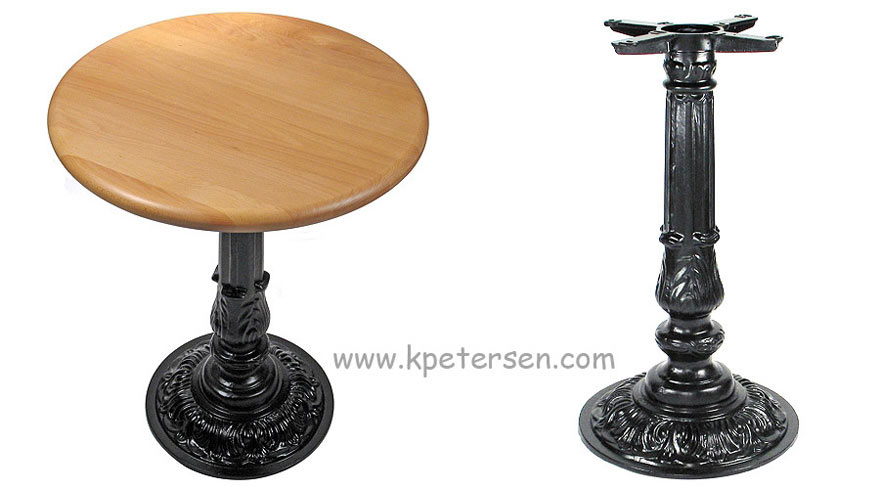 Victorian Style Small Round Cast Iron Antique Reproduction Table Base For Small Table Tops Detail
