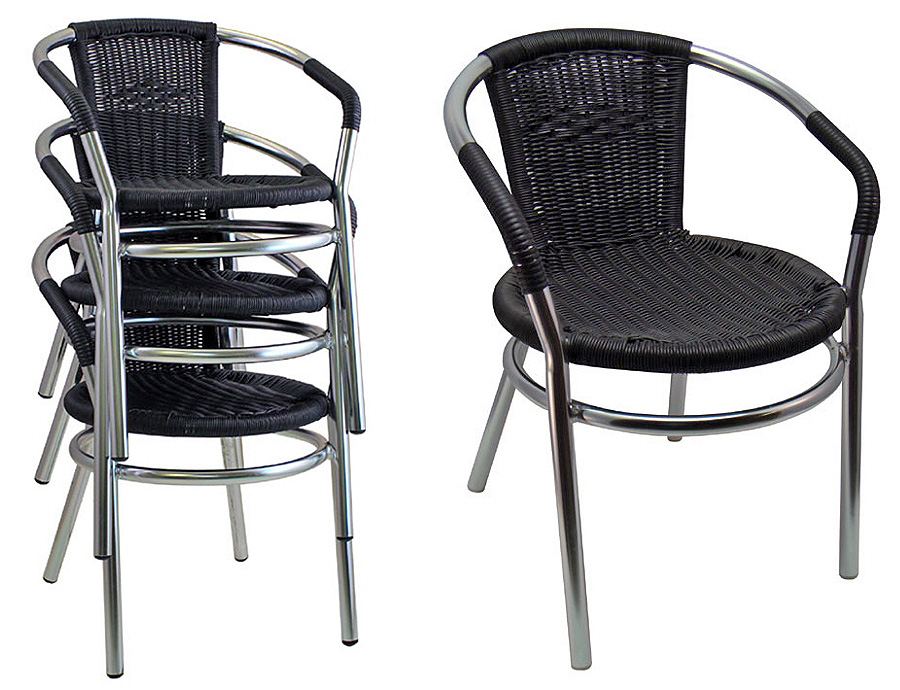 Outdoor Aluminum Arm Chairs