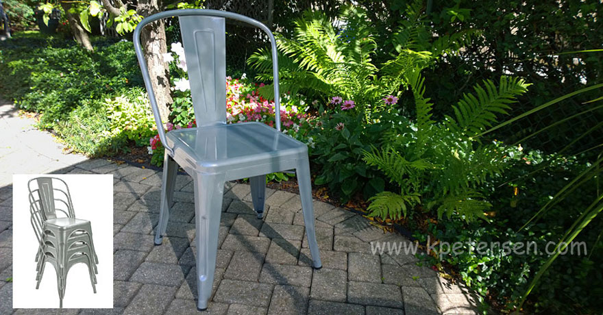 Brewtol Outdoor Steel Armchair Outside