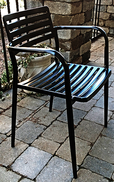 Modern Outdoor Steel Armchair