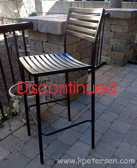 Modern Outdoor Steel Bar Stool
