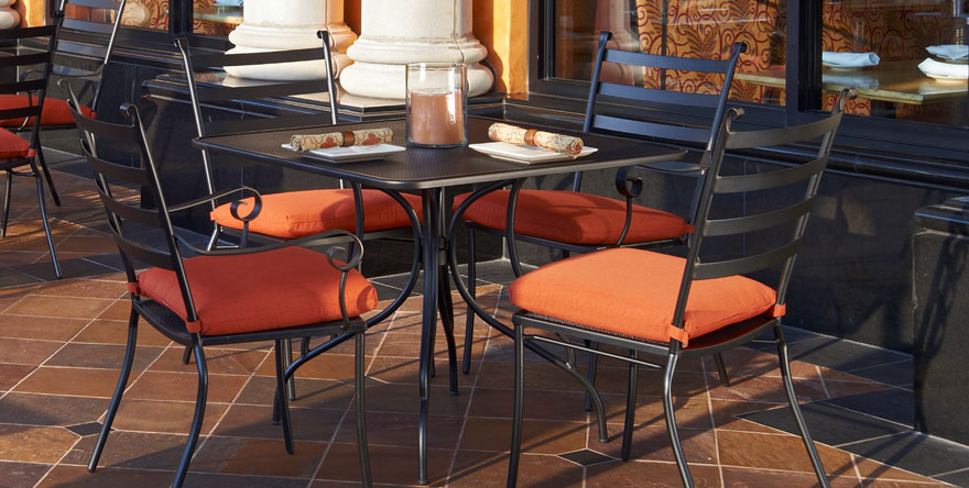Steel Mesh Outdoor Restaurant Table Top with Butterfly Table Base></a>           </center></p>                        <p><center>             <a href=