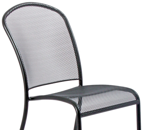 Deluxe Outdoor Steel Mesh Stacking Bar Stool Detail