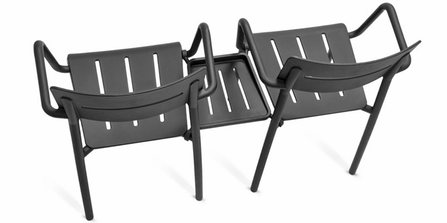 Outdoor Polypropylene Armchair Connector Table Option