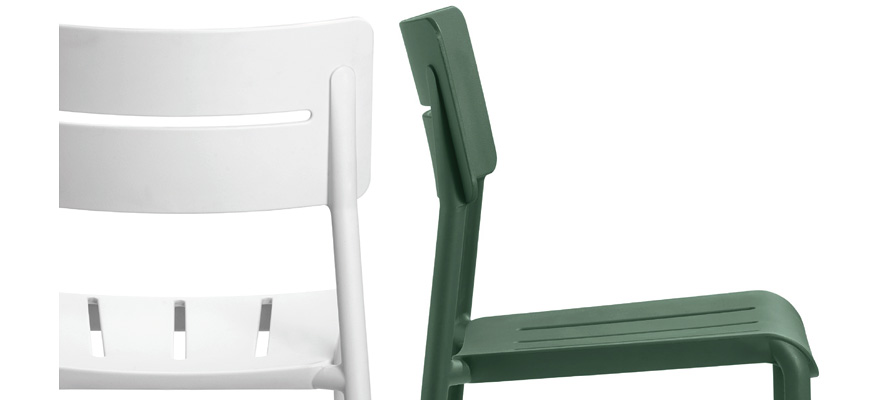 Outdoor Polypropylene Restaurant Stack Chairs Detail