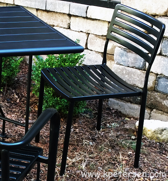 Modern Outdoor Steel Side Chair