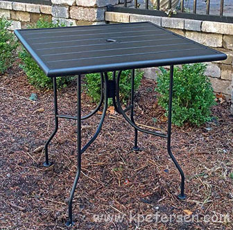 Outdoor Steel Table Dining Height Detail