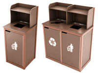 Outdoor Waste Receptacle Cabinets