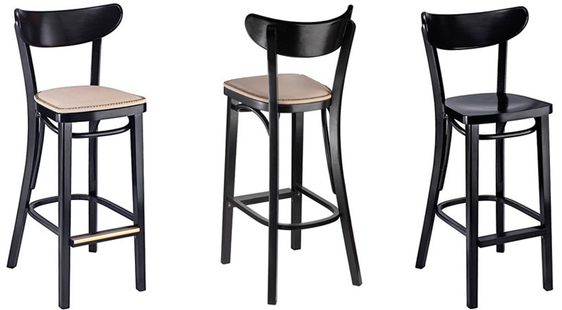 Oval Back Bentwood Bar Stools