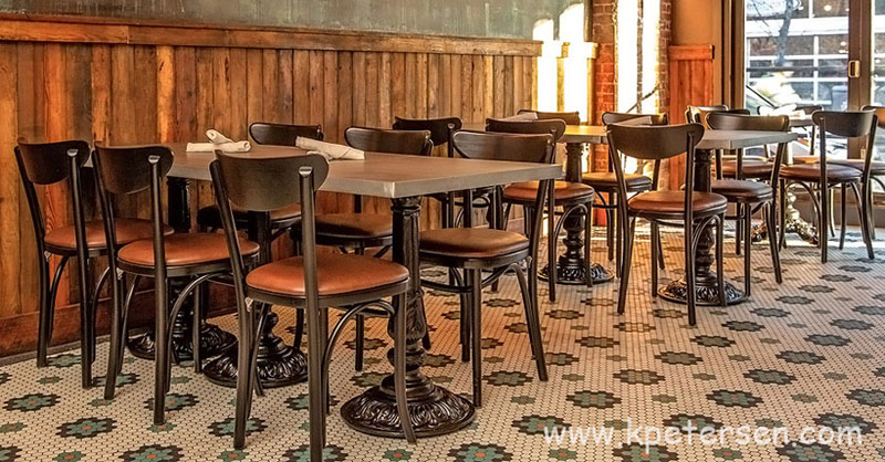 Upholstered Oval Back Bentwood Chairs Bar And Restaurant Installation