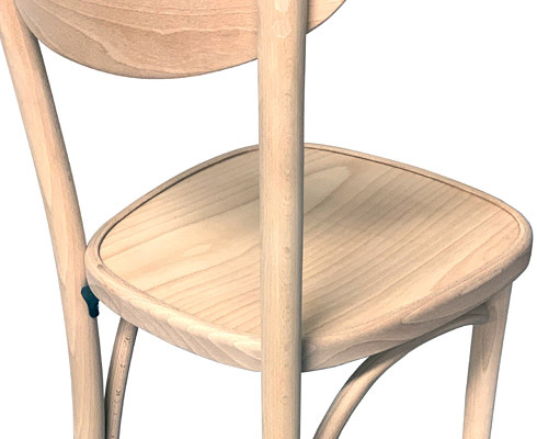 Oval Back Bentwood Chair Now Available Raw, Unfinished Option Rear View