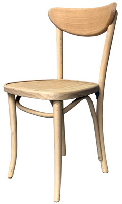 Oval Back Bentwood Chair Now Available Raw, Unfinished Option
