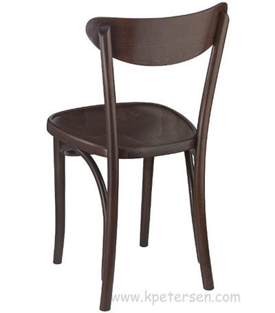 Oval Back Bentwood Chair Rear View