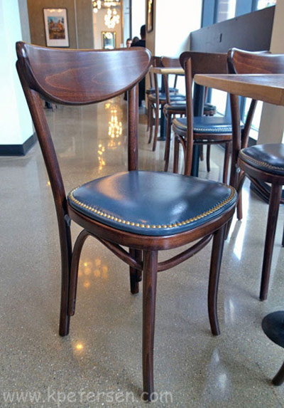 Upholstered Oval Back Bentwood Chairs Installation