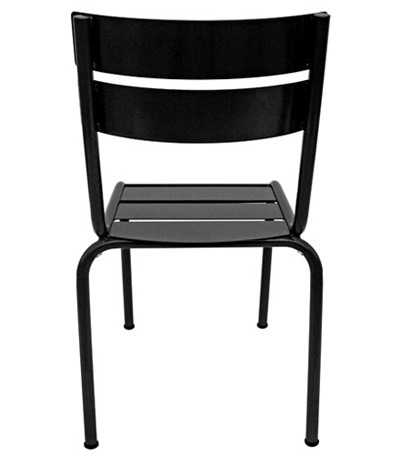Parisian Park Style Steel Stacking Chair Rear View